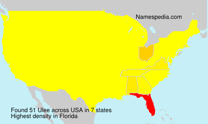 Surname Ulee in USA