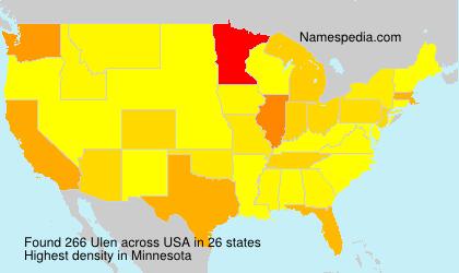 Surname Ulen in USA
