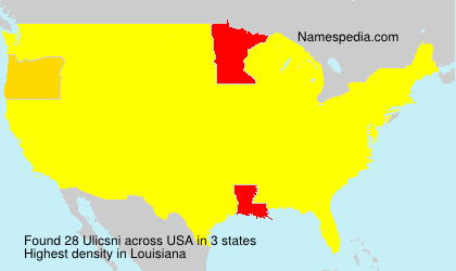 Surname Ulicsni in USA