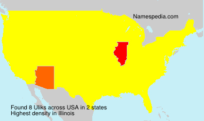 Surname Uliks in USA