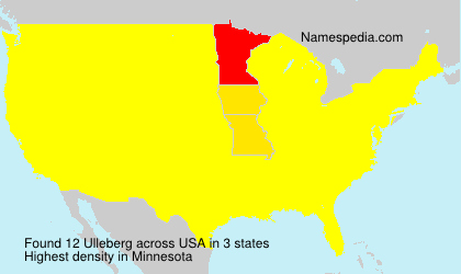 Surname Ulleberg in USA