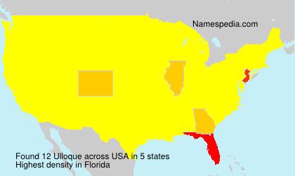 Familiennamen Ulloque - USA