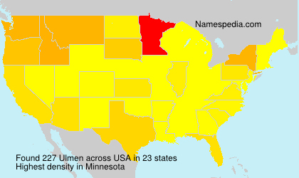 Surname Ulmen in USA
