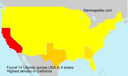 Familiennamen Ulpindo - USA