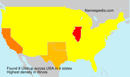 Surname Ulstrup in USA