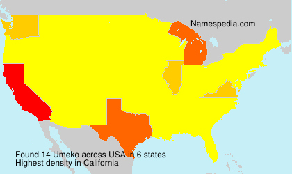 Surname Umeko in USA