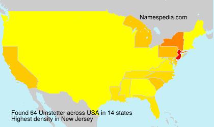 Familiennamen Umstetter - USA