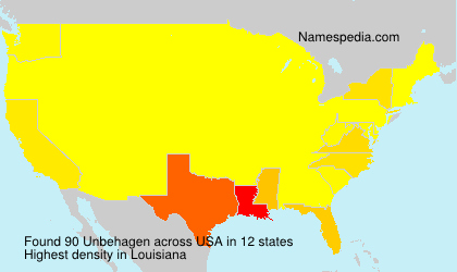 Surname Unbehagen in USA