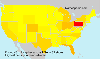 Surname Uncapher in USA