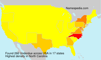 Surname Underdue in USA