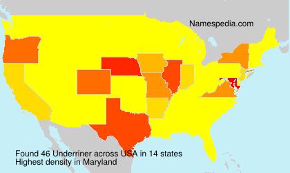 Familiennamen Underriner - USA