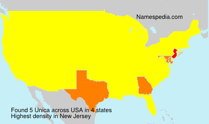 Surname Unica in USA