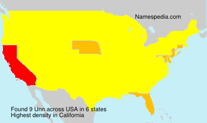 Surname Unn in USA