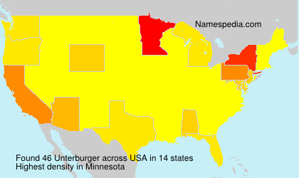Surname Unterburger in USA