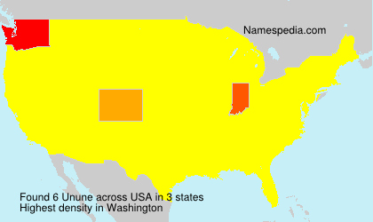 Surname Unune in USA