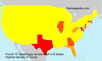 Surname Upadhayay in USA