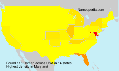 Surname Upman in USA