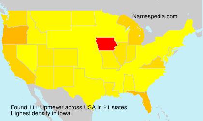 Familiennamen Upmeyer - USA
