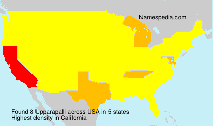 Surname Upparapalli in USA
