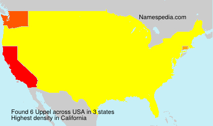 Surname Uppel in USA