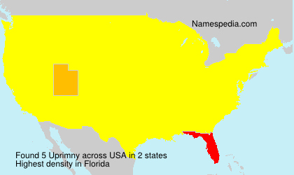 Surname Uprimny in USA