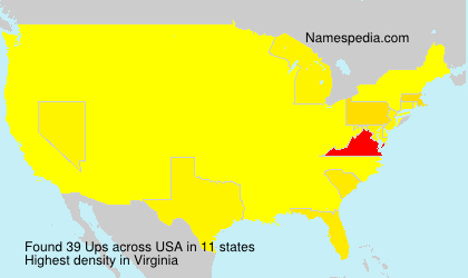 Surname Ups in USA