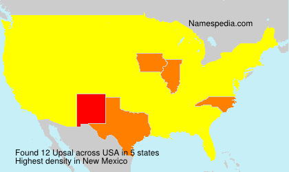 Surname Upsal in USA