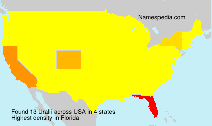 Surname Uralli in USA