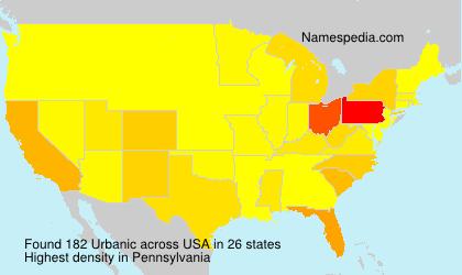 Surname Urbanic in USA