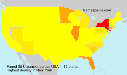 Surname Urbanska in USA