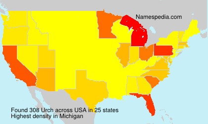 Surname Urch in USA