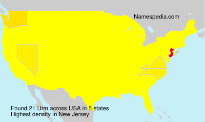 Surname Urm in USA