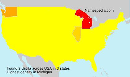 Surname Urpila in USA