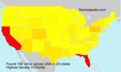 Surname Urroz in USA