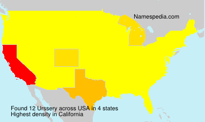 Surname Urssery in USA