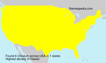 Surname Ursulum in USA