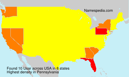 Surname Usar in USA