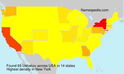 Surname Ushakov in USA
