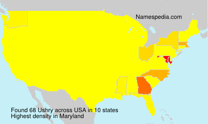 Surname Ushry in USA