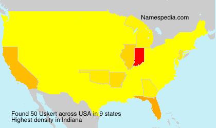 Familiennamen Uskert - USA