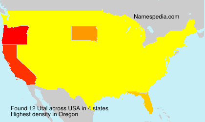 Surname Utal in USA