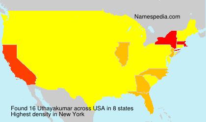 Surname Uthayakumar in USA