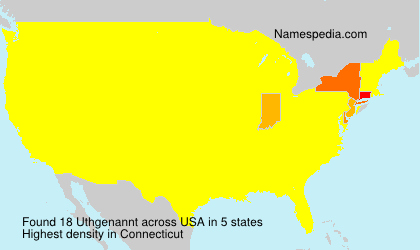 Surname Uthgenannt in USA