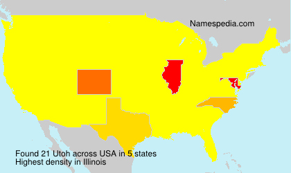 Surname Utoh in USA
