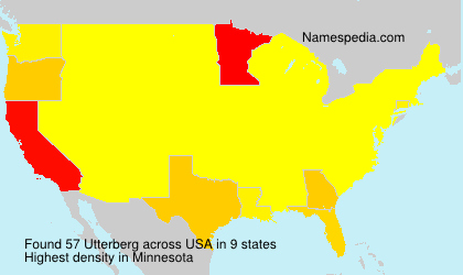 Surname Utterberg in USA