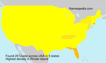 Familiennamen Uustal - USA