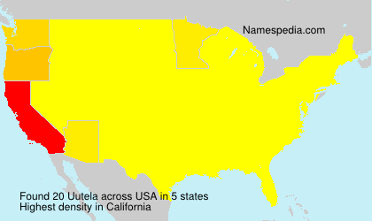 Surname Uutela in USA