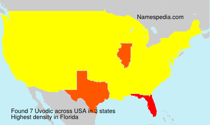 Surname Uvodic in USA