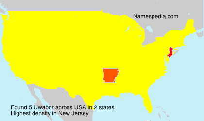 Surname Uwabor in USA