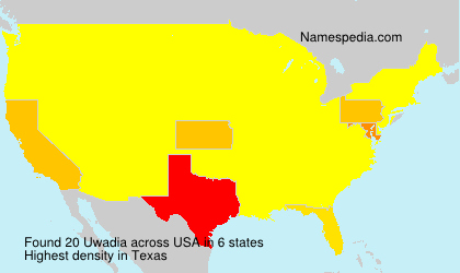 Surname Uwadia in USA